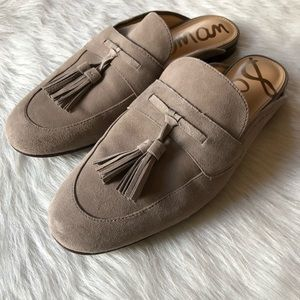 4829e080f Sam Edelman Shoes - Sam Edelman suede Paris slip on mule loafers